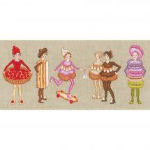 Kit point de croix - Le Bonheur des Dames - La farandole des gâteaux