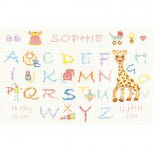 Kit point de croix - Le Bonheur des Dames - ABC Girafe rose