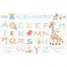 Kit point de croix - Le Bonheur des Dames - ABC Girafe bleue