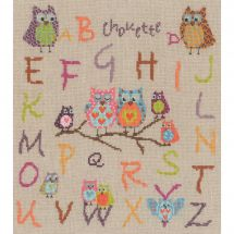 Kit point de croix - Le Bonheur des Dames - Chouettes ABC