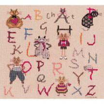 Kit point de croix - Le Bonheur des Dames - Chats ABC