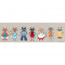 Kit point de croix - Le Bonheur des Dames - Frise chats marins