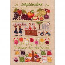 Kit point de croix - Le Bonheur des Dames - Septembre