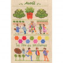 Kit point de croix - Le Bonheur des Dames - Avril