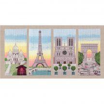 Kit point de croix - Le Bonheur des Dames - Monuments de Paris