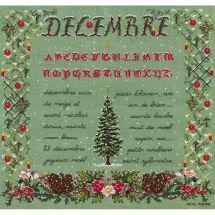 Kit point de croix - Le Bonheur des Dames - Décembre
