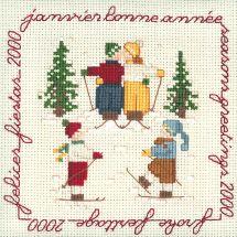 Kit point de croix - Le Bonheur des Dames - Janvier