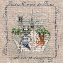 Kit point de croix - Le Bonheur des Dames - Ballade à Notre-Dame