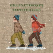 Kit point de croix - Le Bonheur des Dames - Deux patineurs
