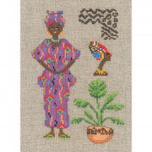 Kit point de croix - Le Bonheur des Dames - Africaine en fushia