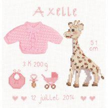 Kit point de croix - Le Bonheur des Dames - Girafe rose