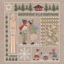 Kit point de croix - Le Bonheur des Dames - Bienvenue - Janvier