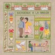 Kit point de croix - Le Bonheur des Dames - Bienvenue - Avril