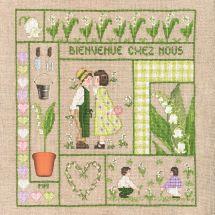 Kit point de croix - Le Bonheur des Dames - Bienvenue - Mai