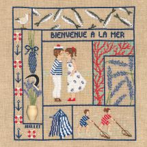 Kit point de croix - Le Bonheur des Dames - Bienvenue - Juillet