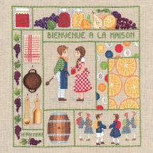 Kit point de croix - Le Bonheur des Dames - Bienvenue - Septembre