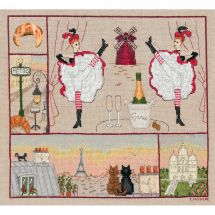 Kit point de croix - Le Bonheur des Dames - Paris bonheur