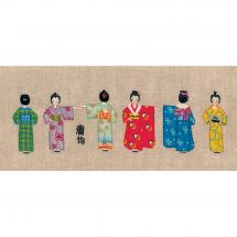 Kit au point de broderie  - Le Bonheur des Dames - Les kimonos