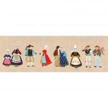 Kit au point de broderie  - Le Bonheur des Dames - Les bretons