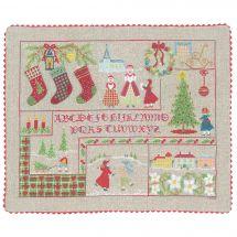 Kit de coussin point croix - Le Bonheur des Dames - Noël victorien