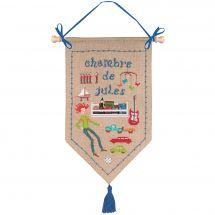Kit de bannière à broder - Le Bonheur des Dames - Chambre de Jules