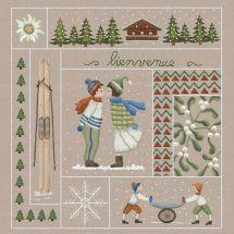 Kit au point de broderie  - Le Bonheur des Dames - Bienvenue - Janvier (imprimée)