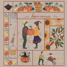 Kit au point de broderie  - Le Bonheur des Dames - Bienvenue - Novembre (Imprimée)
