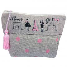 Kit de trousse à broder - Le Bonheur des Dames - Paris je t'aime