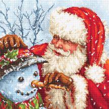 Kit point de croix - Letistitch - Père Noël et bonhomme de neige