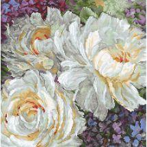 Kit point de croix - Letistitch - Roses blanches