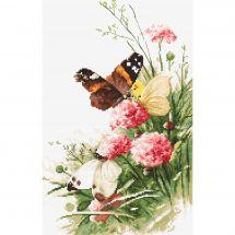 Kit point de croix - Letistitch - Papillons sur les fleurs