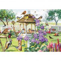 Kit point de croix - Letistitch - Table aux oiseaux