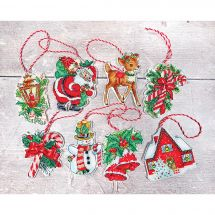 Kit d'ornement à broder - Letistitch - Kit figurines de Noël n°1