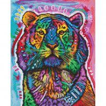 Kit point de croix - Letistitch - Tigre curieux