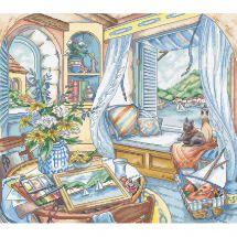 Kit point de croix - Letistitch - Banquette à la fenêtre