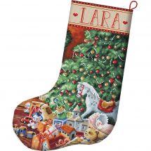 Kit de chaussette de Noël à broder - Letistitch - Noël chaleureux