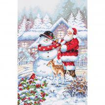 Kit point de croix - Letistitch - Bonhomme de neige et Père Noël