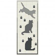 Kit de marque-pages à broder - Luc Créations - Les chats