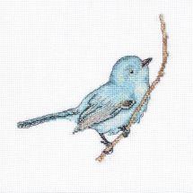 Kit point de croix - Luca-S - Oiseau bleu