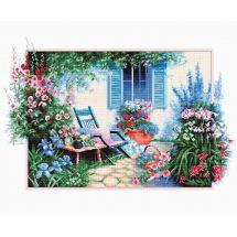 Kit point de croix - Luca-S - Jardin de fleurs
