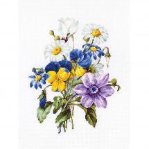 Kit point de croix - Luca-S - Bouquet de fleurs