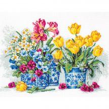 Kit point de croix - Luca-S - Jardin de printemps