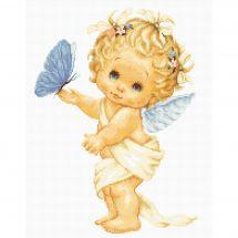 Kit point de croix - Luca-S - Papillon et ange