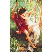 Kit point de croix - Luca-S - Le printemps des amoureux