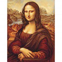 Kit point de croix - Luca-S - Mona Lisa d'aprés Léonard de Vinci