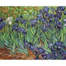 Kit point de croix - Luca-S - Les iris d'après Van Gogh