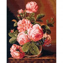 Kit point de croix - Luca-S - Bouquet de roses
