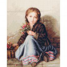 Kit point de croix - Luca-S - Portrait de jeune fille