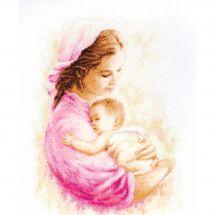 Kit point de croix - Luca-S - Mère et enfant