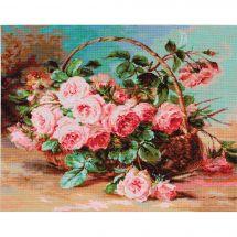 Kit point de croix - Luca-S - Panier de roses